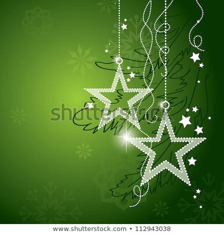 vidám · karácsony · üdvözlet · terv · akasztás · piros - stock fotó © cidepix