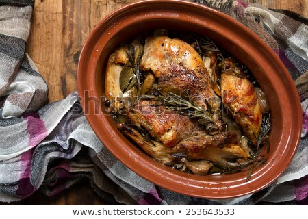 домашний кролик тушеное мясо овощей оливкового бобов Сток-фото © grafvision