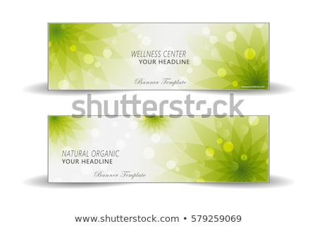 organic cosmetics concept banner header stock photo © rastudio