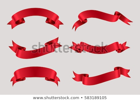 Decorative red ribbon banner isolated vector Stock photo © robuart