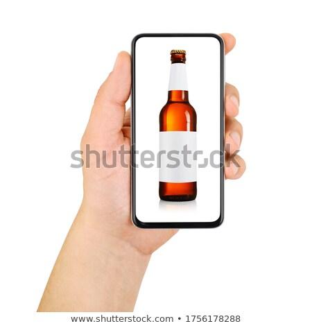 Adam alkol şişe alkolizm Stok fotoğraf © dolgachov