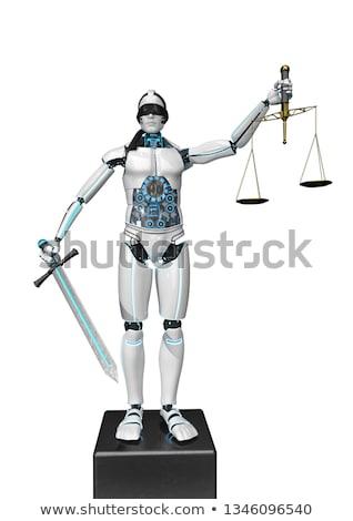 szobor · hölgy · igazság · mérleg · egyensúly · szobor - stock fotó © limbi007
