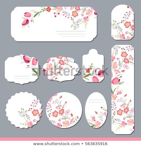 Flores tarjeta fondos dibujado a mano boda amor Foto stock © frescomovie