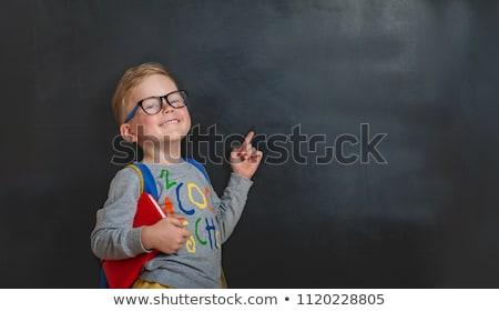 Blackboard illustratie kind student achtergrond Stockfoto © colematt