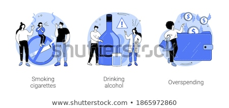 Overspending concept vector illustration. Stock photo © RAStudio