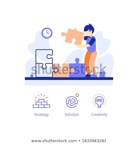 creatieve · business · ideeën · 3d · illustration · zakhorloge · tekst - stockfoto © lightsource