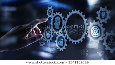 Competência texto moderno laptop tela escritório Foto stock © Mazirama