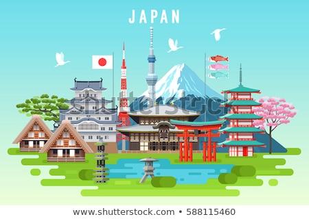 Giappone icone design viaggio eps 10 Foto d'archivio © netkov1