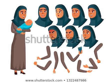 Arab muslim teen girl Vektor Teenager Erwachsenen Stock foto © pikepicture