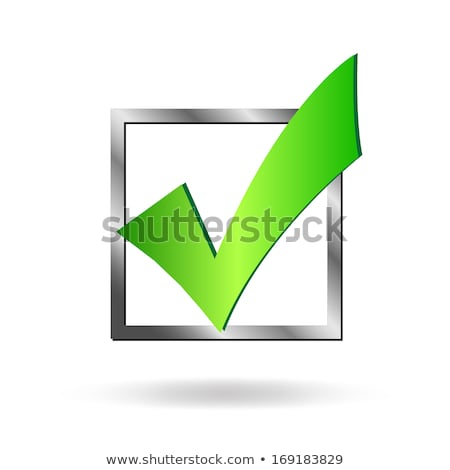 illustration of check mark icon in square vector illustration isolated on white background stock photo © kyryloff