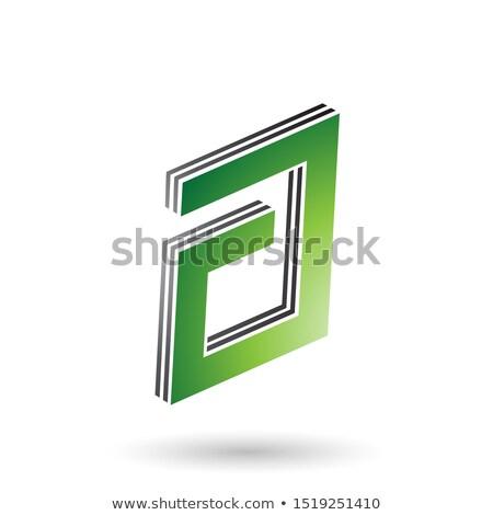 Vert noir rectangulaire lettre design Photo stock © cidepix