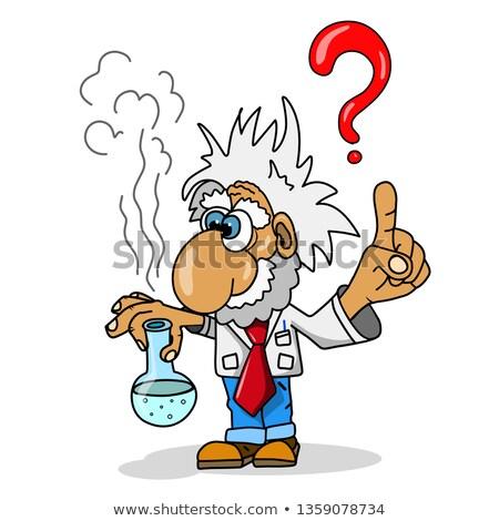 Czas ilustracja naukowiec probówki biały technologii Zdjęcia stock © brux