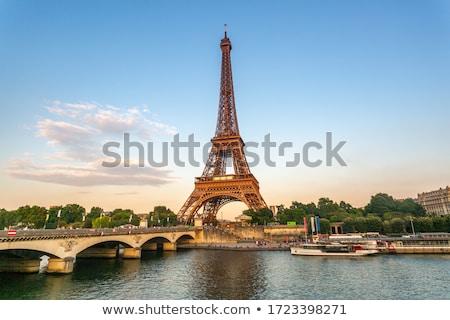 Eiffel-torony Franciaország napos tavasz nap Párizs Stock fotó © neirfy