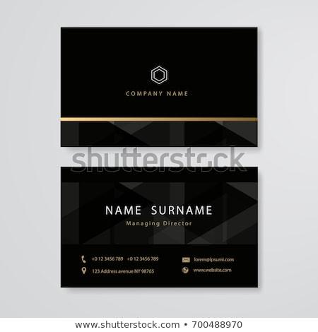Prämie Gold schwarz Visitenkarte Design Business Stock foto © SArts