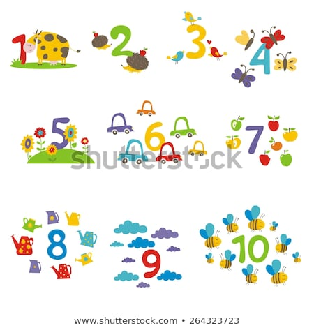 Butterfly counting number on flowers Stock photo © colematt
