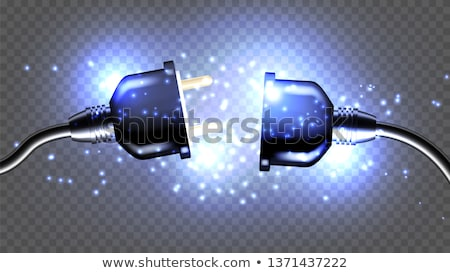 disconnected electrical plug vector realistic 3d illustration stock photo © pikepicture