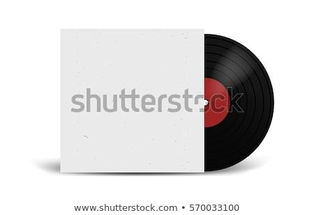 Vektör vinil kayıt kapak beyaz Stok fotoğraf © TRIKONA