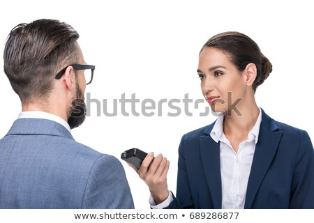 Journalist Taking Interview Of Businesswoman Stock photo © AndreyPopov