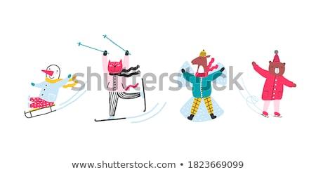 Animaux jouer illustration sport Photo stock © colematt