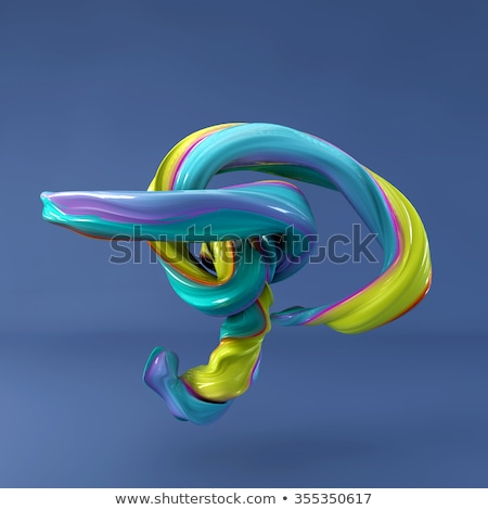Blue gradient Letter P 3D Stock photo © djmilic