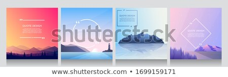 Four nature scenes with lighthouse by the ocean Stock photo © colematt