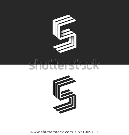 black outline font letter s 3d stock photo © djmilic