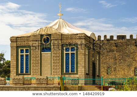 Capilla tableta Etiopía iglesia dama casas Foto stock © artush