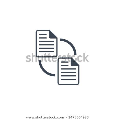 Fichier échange vecteur icône isolé blanche Photo stock © smoki