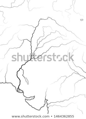 Világtérkép völgy India Pakisztán öt szent Stock fotó © Glasaigh