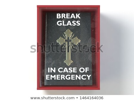 Emergency Red Box With Bible Stock photo © albund