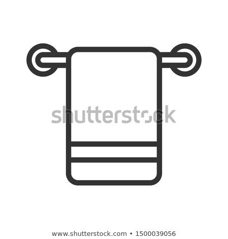Vállfa sín ikon kör sablon terv Stock fotó © angelp
