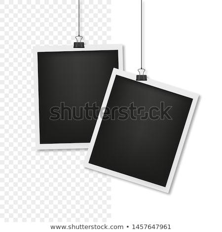 Stockfoto: Houten · papier · frames · foto