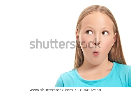 Oito anos velho fechar menina Foto stock © Lopolo