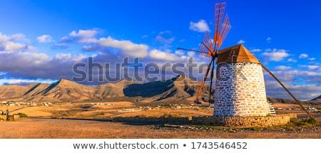 Traditional windmill in Fuerteventura Stock photo © hamik