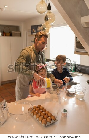 Liefhebbend vader kinderen Stockfoto © wavebreak_media
