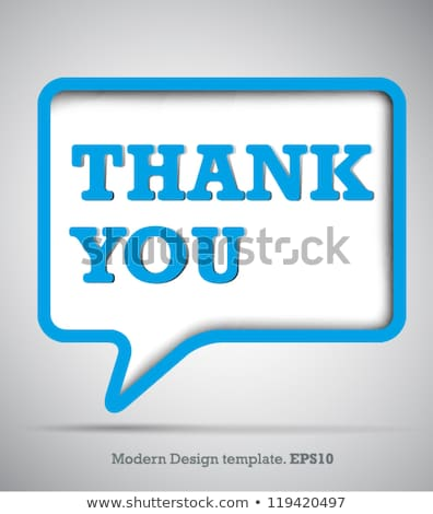 thank you abstract vector banner templates set stock photo © decorwithme
