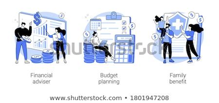 Pénzügyi tervezés vektor metaforák pénzügyek vezetőség gazdasági Stock fotó © RAStudio