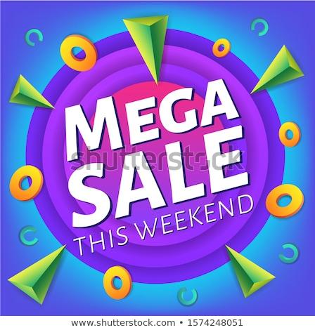 Especial fim de semana venda publicidade teia Foto stock © MarySan