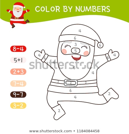 counting Santa Claus characters game for kids Stock photo © izakowski