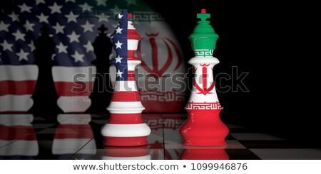 Iran amerykański konkurencja irański wojny kryzys Zdjęcia stock © Lightsource