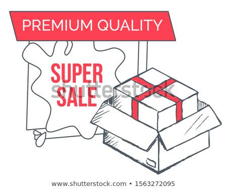 Ecommerce Sketch with Container, Super Sale Vector Stock photo © robuart