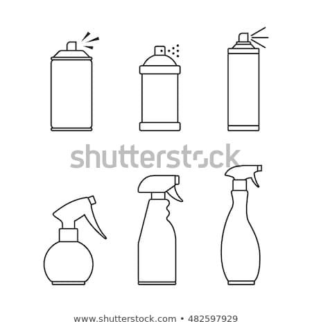 Chimica aerosol icona vettore contorno illustrazione Foto d'archivio © pikepicture