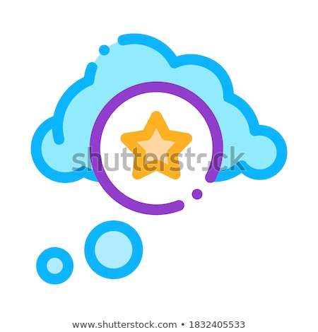 Estrela bônus ícone nuvem vetor ilustração Foto stock © pikepicture