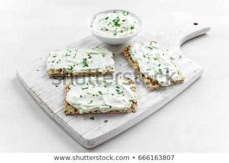 Delicioso frescos queso hierbas simple Foto stock © Peteer