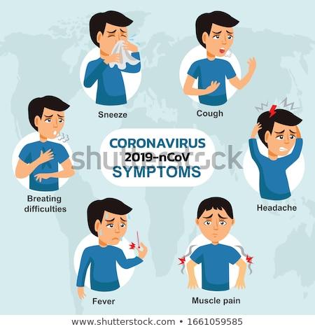 Coronavirus endommagé fièvre positif test tousser Photo stock © RAStudio