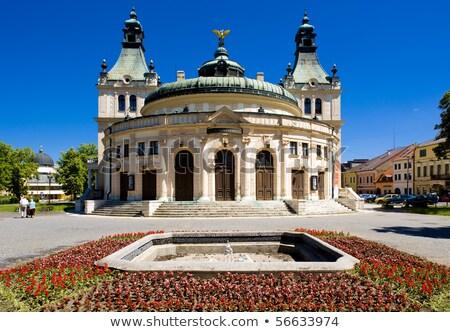 town hall square spisska nova ves slovakia stock photo © phbcz