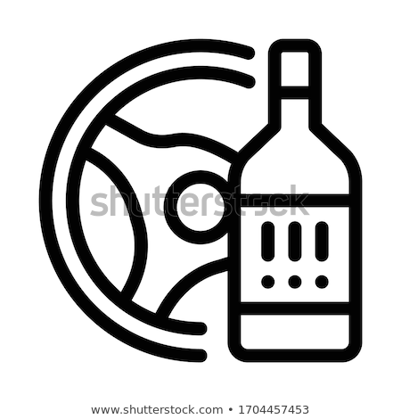 drunk driving icon vector outline illustration Stock photo © pikepicture