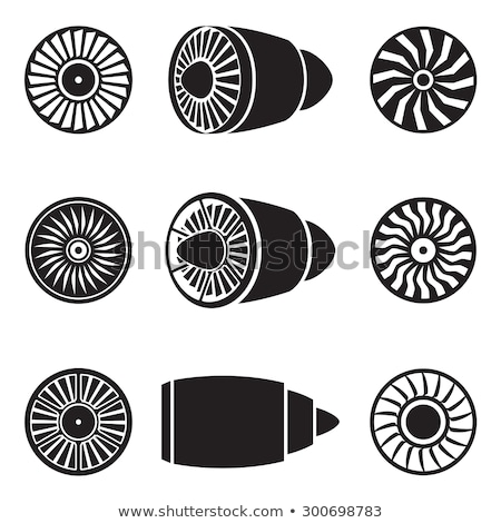 Turbina motor icono vector ilustración Foto stock © pikepicture