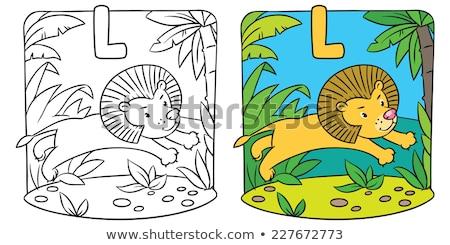 ábécé levél levelek képek kifestőkönyv gyerekek Stock fotó © natali_brill