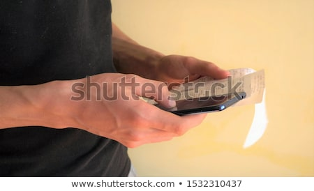 Mobile Phone App For Expense Tracking Stock photo © AndreyPopov